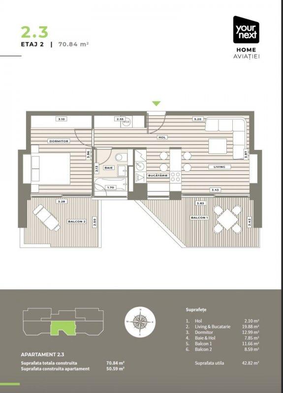 2 camere Your Next Home Aviatiei 8